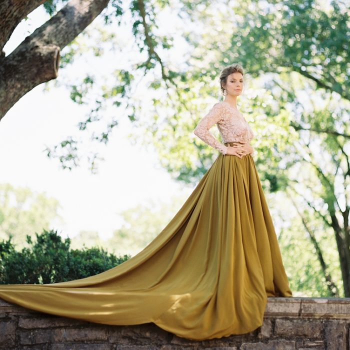 Emily Riggs Yellow Skirt, Cheekwood Wedding, Nashville